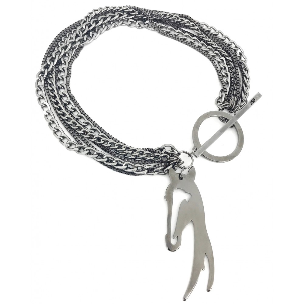 JSP CHAIN NECKLACE 017 GUNMETAL