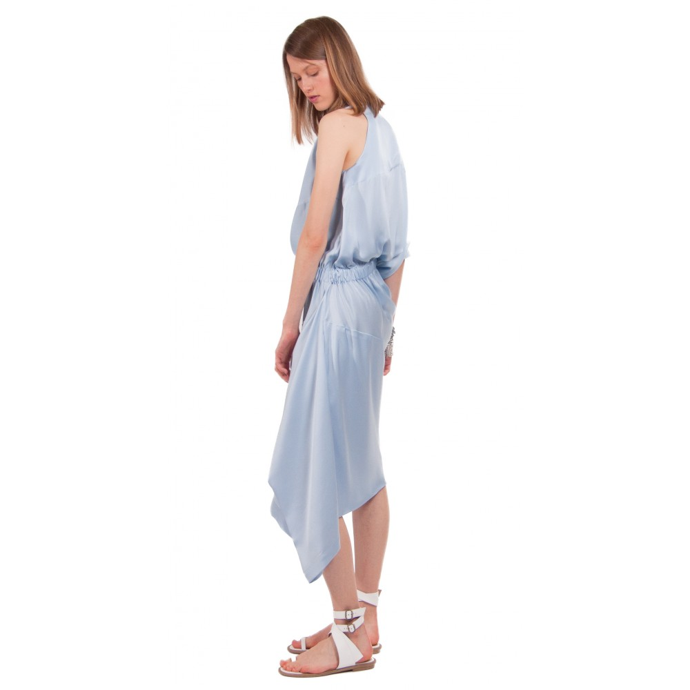 JSP ASYMMETRIC DRAPE DRESS
