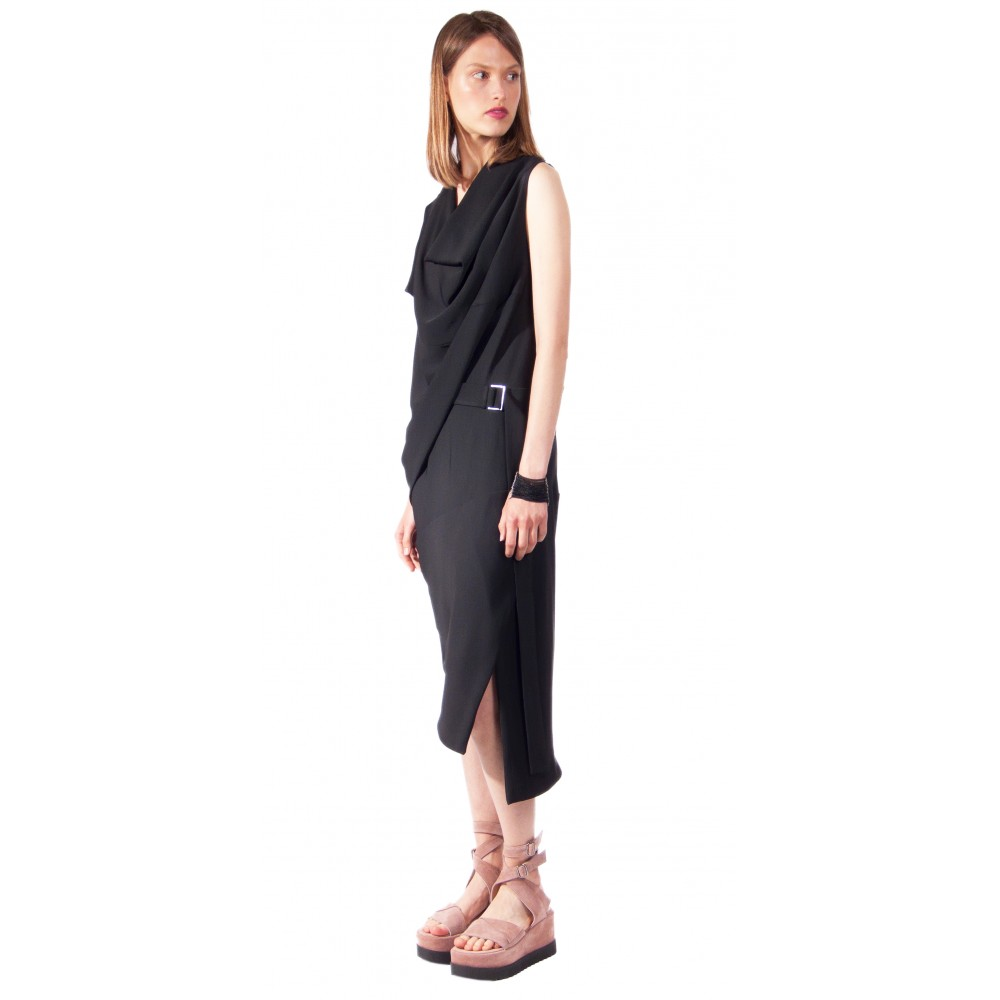 JSP ASYMMETRIC SLIT DRESS