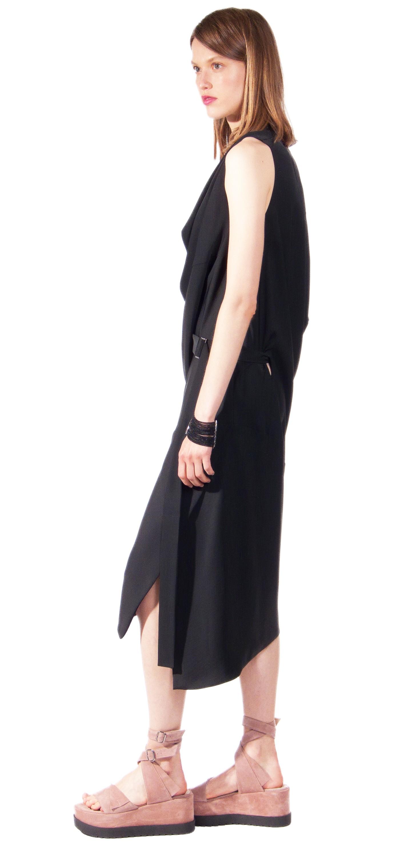JSP ASYMMETRIC SLIT DRESS