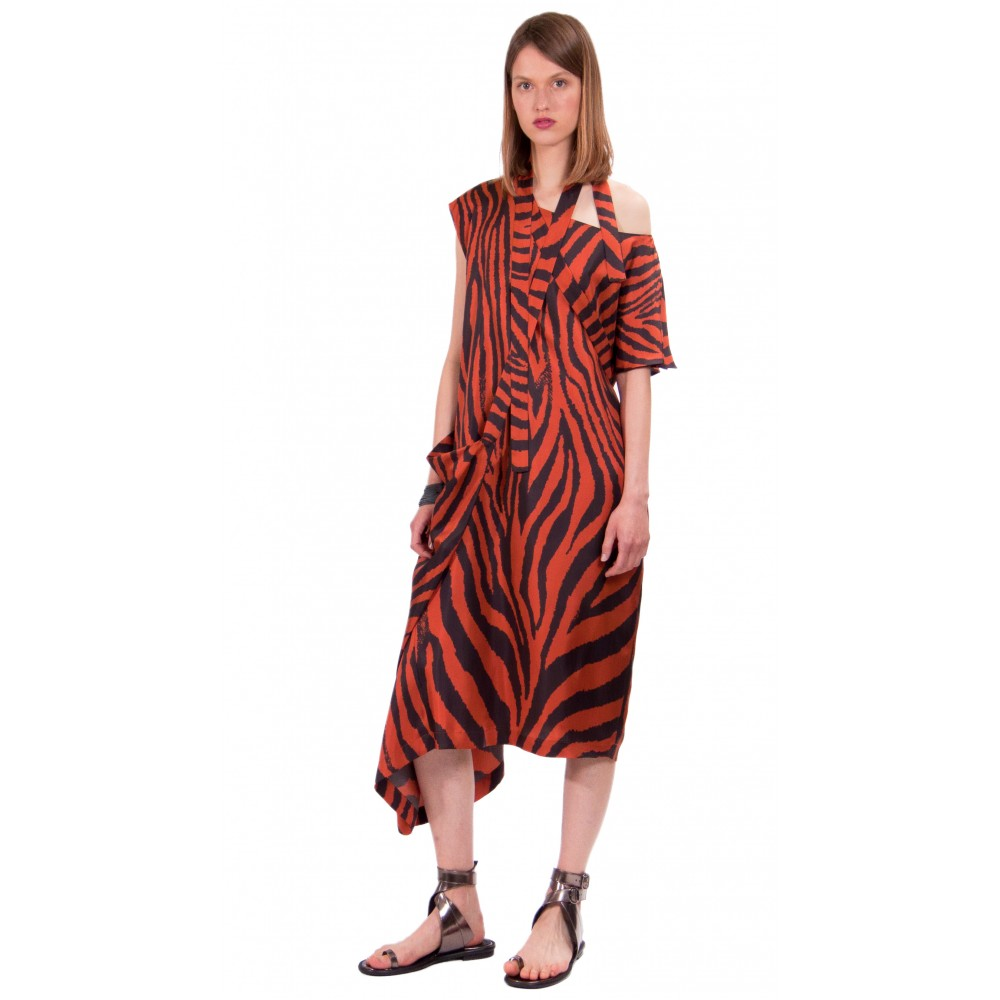 JSP ASYMMETRIC WRAP DRESS
