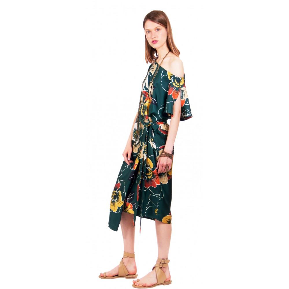 JSP ASYMMETRIC WRAP DRESS