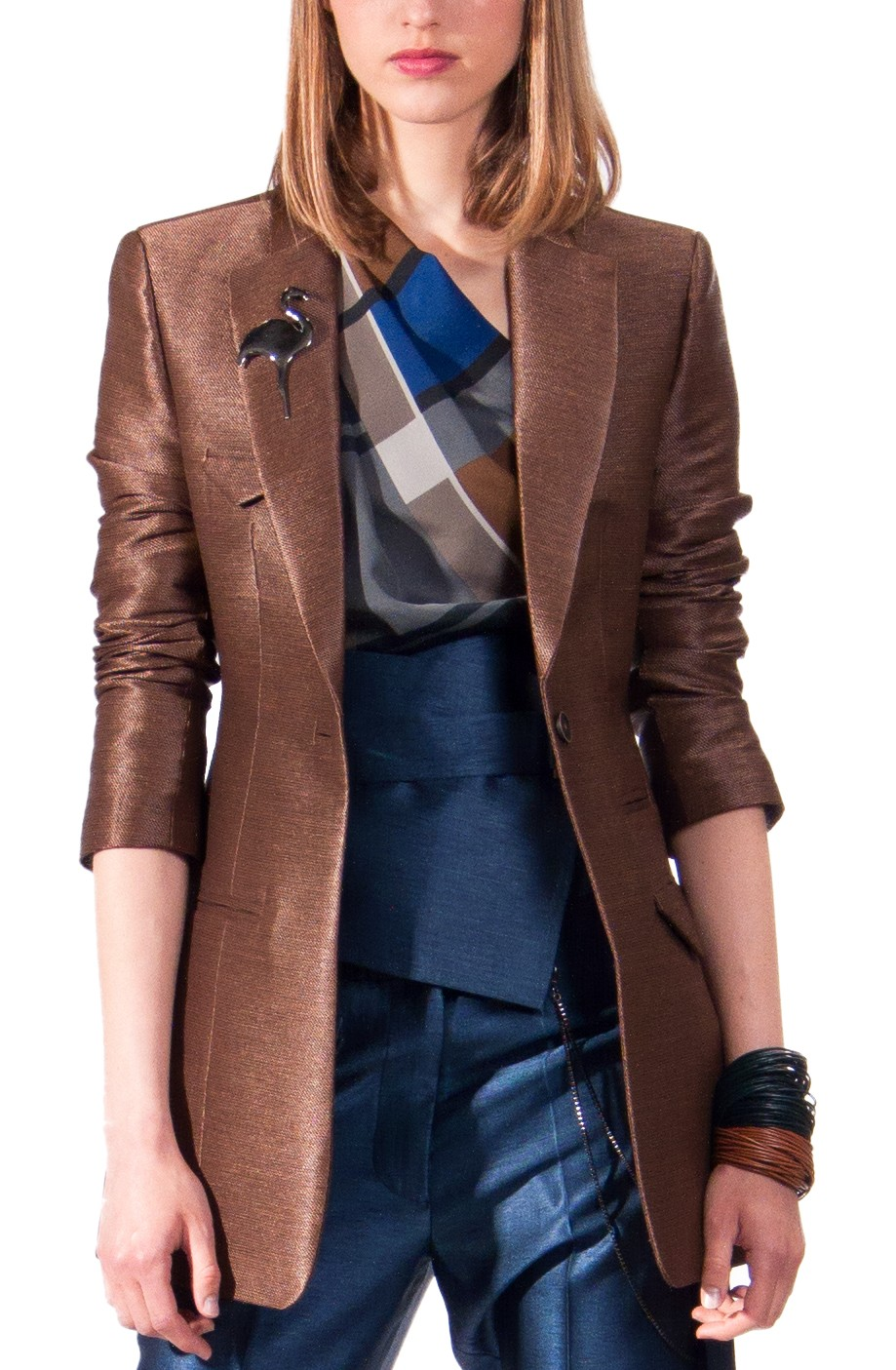 JSP SLIM FIT  JACKET COPPER