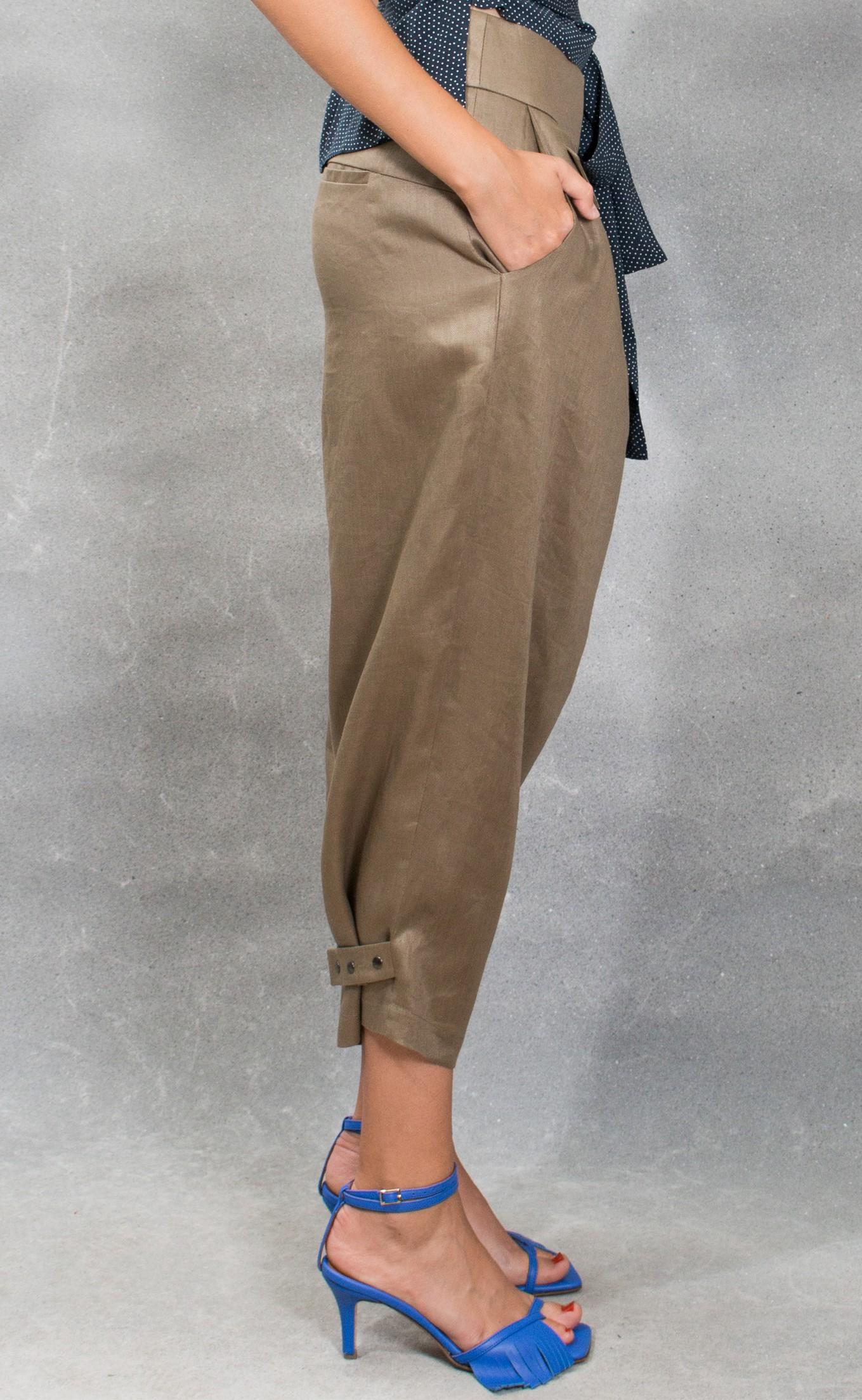 JSP SLOUCHY ASYMMETRIC PANTS