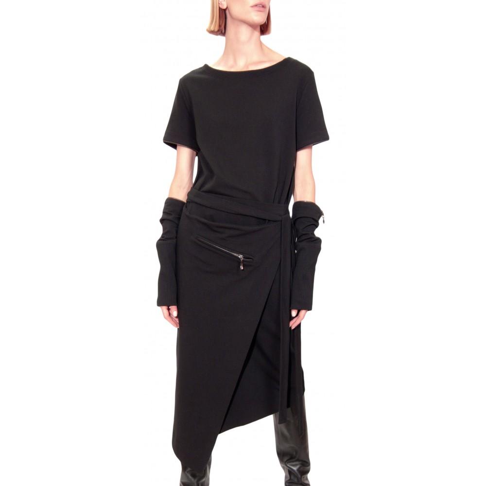 JSP WRAP SWEATSHIRT DRESS
