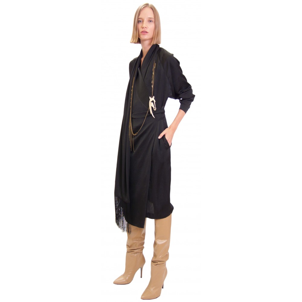 JSP WRAP DRESS WITH SCARF