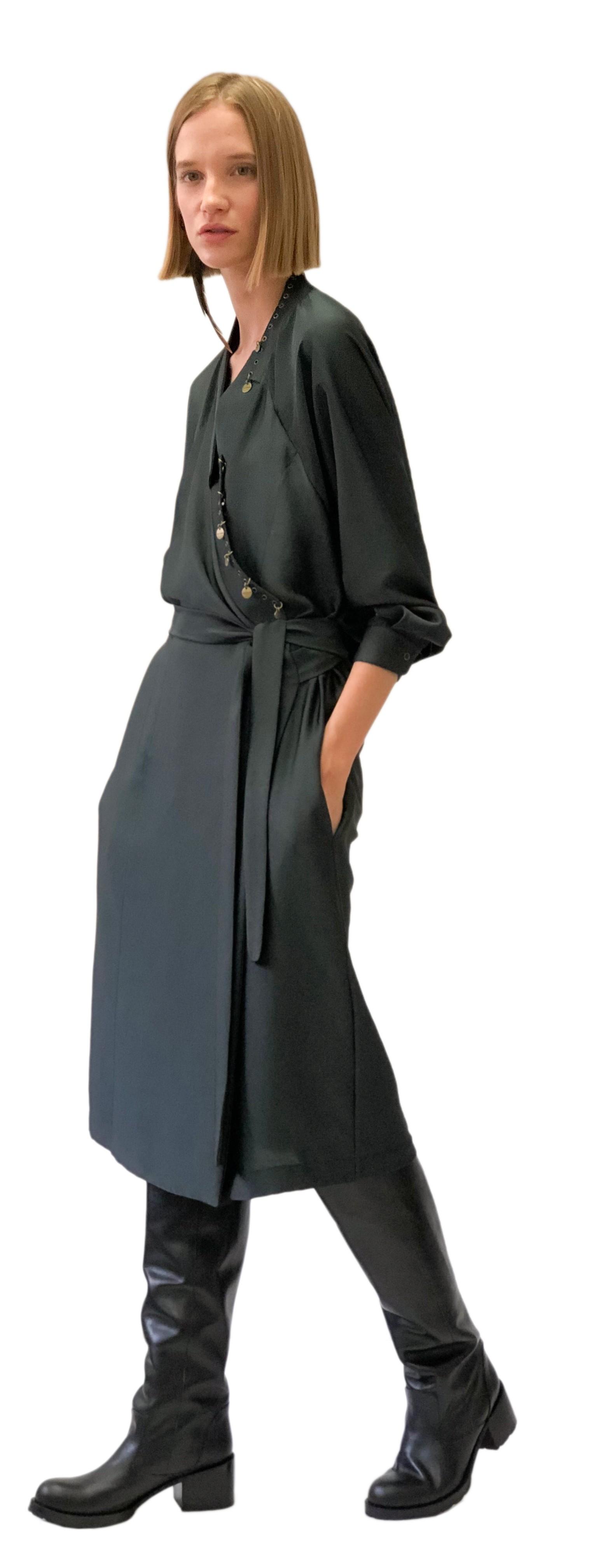 JSP BACK DRAPE DRESS