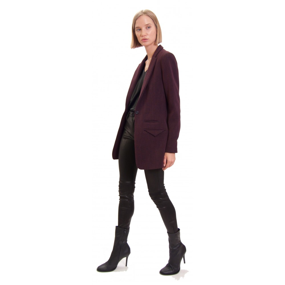 JSP SLIM MAROON JACKET