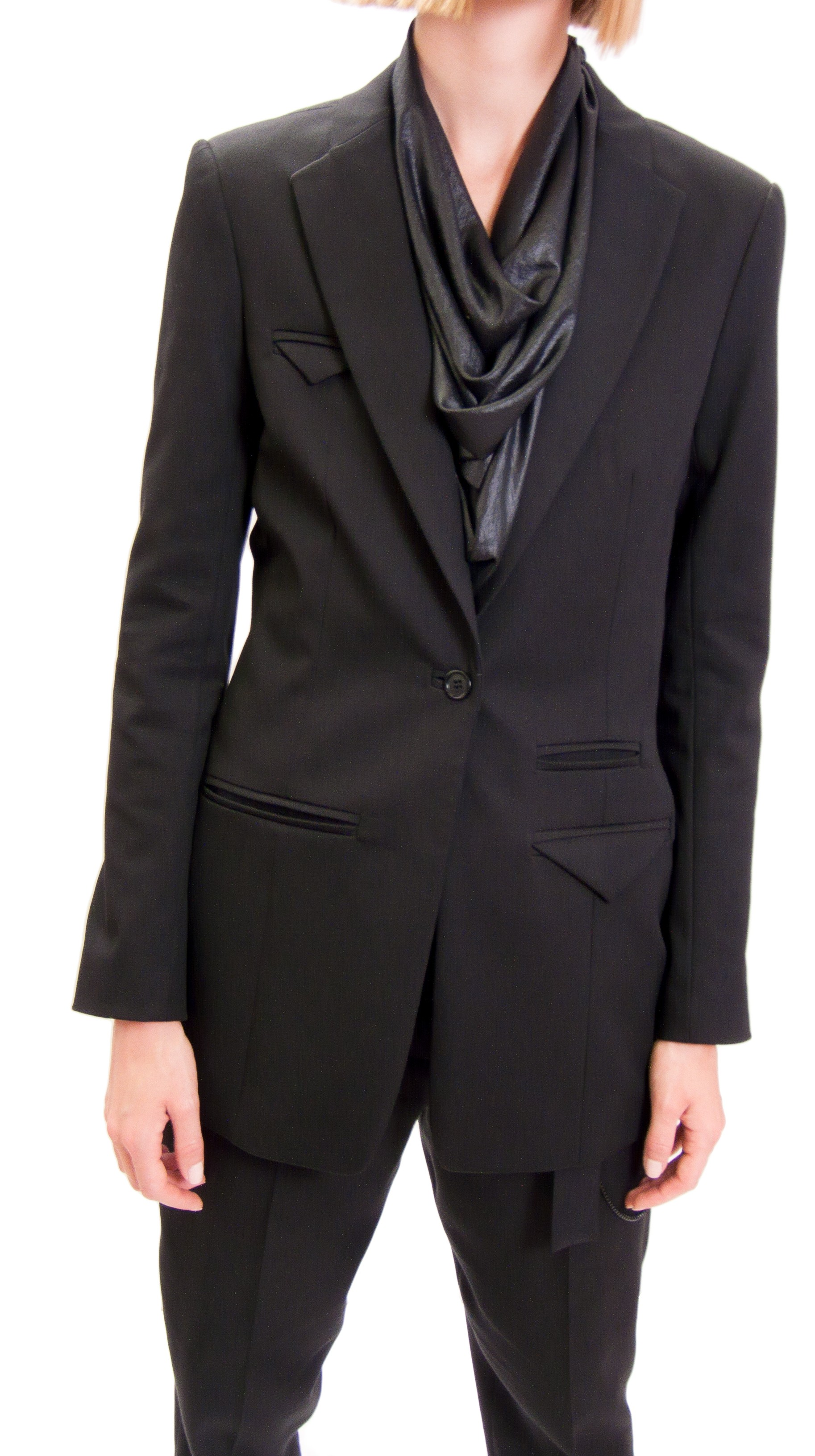 JSP SLIM BLACK  JACKET